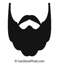 Long beard icon, simple style.