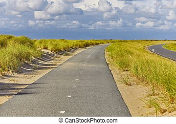 Long bicycle road