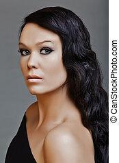 long black hair beauty