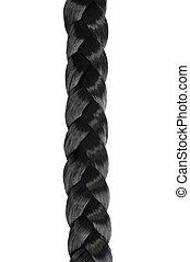 long black hair braid
