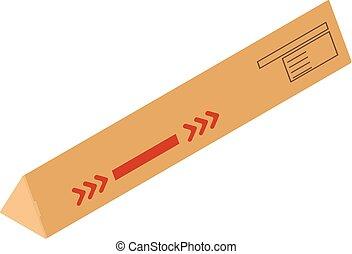 Long box icon, isometric style