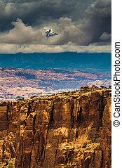 Long Canyon Utah - Dramatic sky over Long Canyon Utah -...