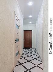 Long corridor in the apartment