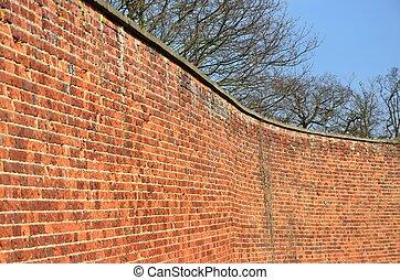 mur courb brique fond mur usine detail fond courb brique texture chemin e. Black Bedroom Furniture Sets. Home Design Ideas