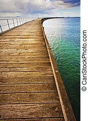 Long Curving Jetty