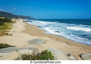Long Deserted Beach
