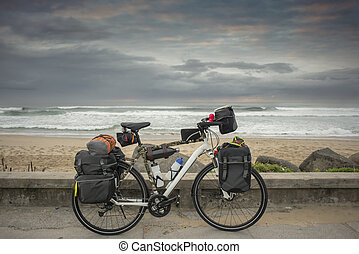 Long Distance Bicycle by Ocean