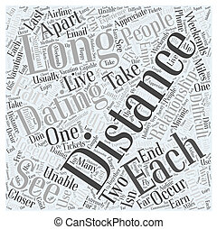 Long Distance Dating Word Cloud Concept