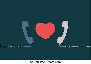 Long Distance Relationship Illustration. Love Talking. Love Call