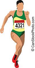 Long-distance runner. Short-distan