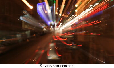 long exposure effect to capture light streaks on moving...