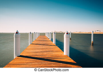 Long exposure of a pier on the Chesapeake Bay, at Kent...