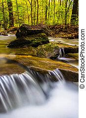Long exposure of cascades on Tucquan Creek, in Lancaster...