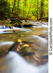 Long exposure of cascades on Tucquan Creek, in Lancaster...