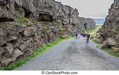 National Park of Thingvellir (Iceland)