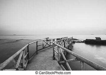 Long exposure of pier in east coast