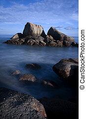 long exposure of rocks