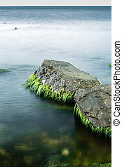 Long exposure of sea and rocks - long exposure of sea and...