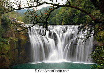 Long exposure of Taiwan's beautiful Shifen Falls