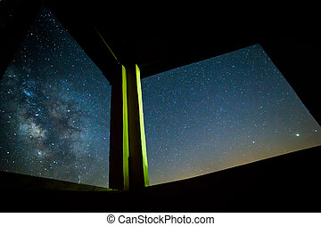 long exposure of the stars at night