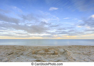 Long exposure photography on the beach