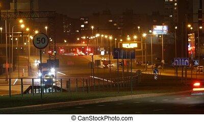 Long Exposure Time Lapse of Night Traffic in Vilnius