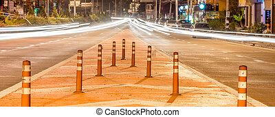 Long exposure traffic scene of Thailand