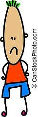 long face - unhappy child with a long face - toddler art...