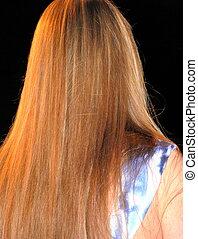 Long hair beauty.