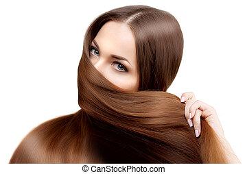 Long hair. Hairstyle. Hair Salon