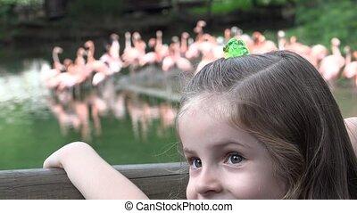 Long Hair of Girl at Zoo