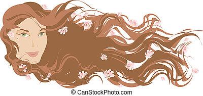 Long hair - Portrait of a longhaired girl