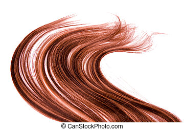 long hair - long red hair style on white isolated background