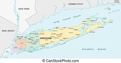 long island map - long island vector map