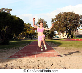 Long jump - Girl long jumping