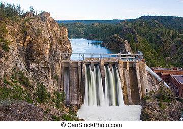 Long Lake Dam - Horizontal Photo of Long Lake Dam in Eastern...