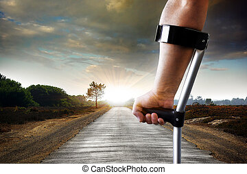 Long Limping - Limping slowly towards the objective -...