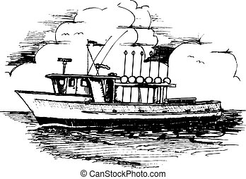 Long line Fishing Boat