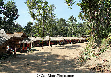 Long neck tribe village