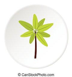 Long palm icon, flat style