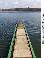 Long pier on the lake.