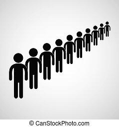 Long queue symbol vector format