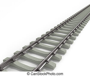 Long 3D textured rails, going from corner to corner