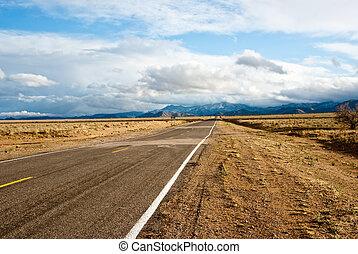 Long road in Desert Storm