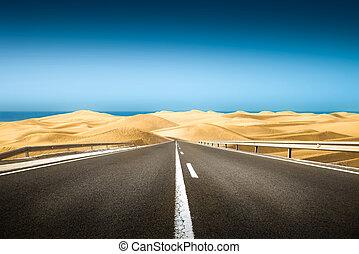 long road in the desert
