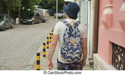 long, rue, marche, touriste