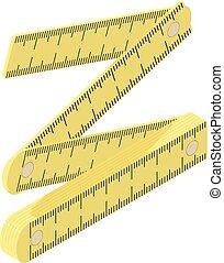 Long ruler icon, isometric style