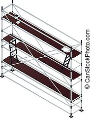 Long scaffold icon, isometric style