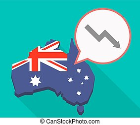 Long shadow Australia mmap with a descending graph