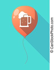 Long shadow balloon with a beer jar icon